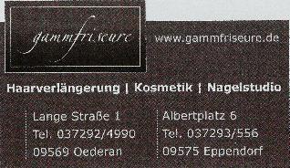 Logo der Firma Gamm Friseure, Oederan