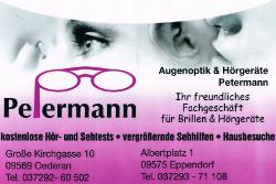Logo der Firma Augenoptik Petermann, Oederan