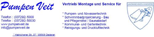 Logo der Firma Pumpen Veit, Oederan